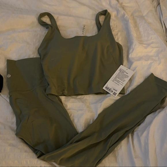 Align Tights, Fold Tight tank Rosemary Green 6, 8